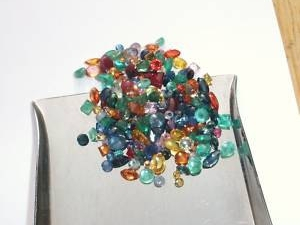 Over 15 Carats  Of Gems, Rubies, Sapphires, & Emerald Mix