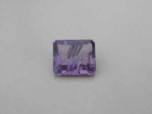 Amethyst Emerald Laser Cut Gem 12 x 10mm