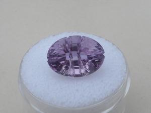 Amethyst Oval Laser Cut Gem 14 x 10mm