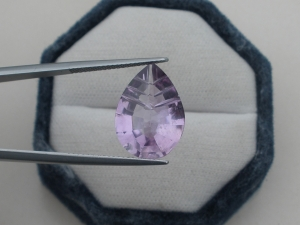 Amethyst Pear Laser Cut Gem 18 x 13mm