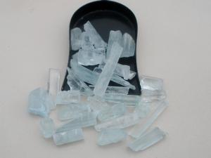 Aquamarine crystal rough gem mix parcel over 100 carats