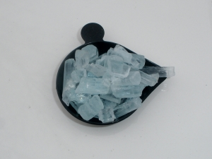 Aquamarine crystal rough gem mix parcel over 50 carats