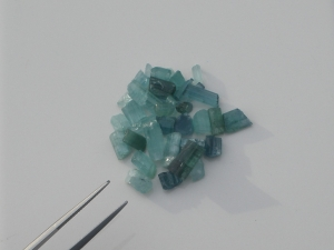 Blue Tourmaline crystal rough loose natural gem parcel over 25 carats