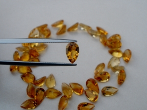 Citrine Pear gem 8 x 5mm