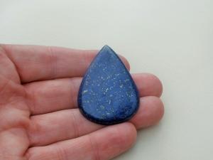 Lapis Lazuli Blue Pear Cabochon Loose Gemstone 95 Carats