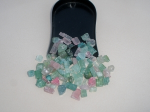 Tourmaline crystal rough gem mix parcel lot over 50 carats
