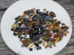 Tourmaline gem mix lot over 100 carats