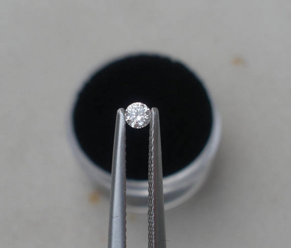 3mm White Natural Diamond Loose Faceted Round VS2 Clarity