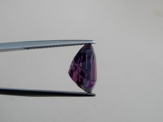 Amethyst trillion laser cut gem 4.37 carats