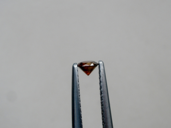 3.5mm cognac red diamond loose round 0.17 carat