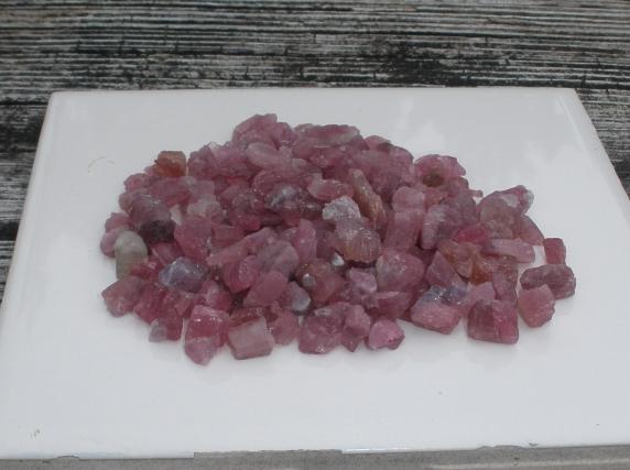 Pink Tourmaline Crystal Rough Natural Gem Parcel Lot over 100 Carats