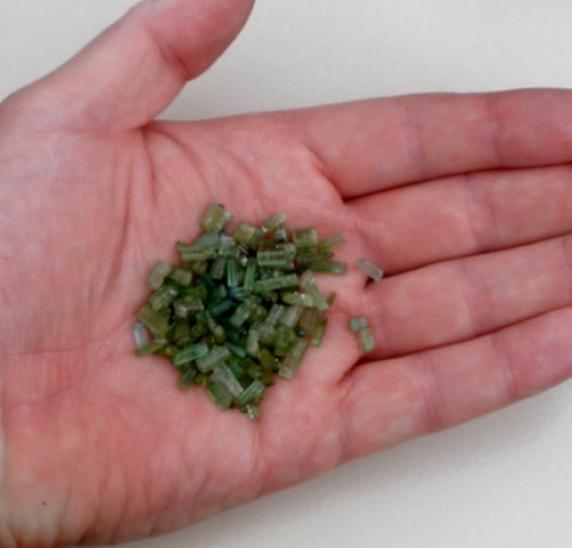 Green Tourmaline crystal rough loose natural gem parcel over 50 carats