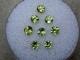 8 peridot round gems 3mm each