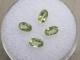 4 Loose Natural Peridot Oval Cut Gems 5 x 3MM Each