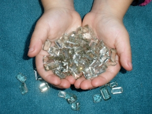 Over 100 Carats of Loose Natural Green Amethyst Gem Mix