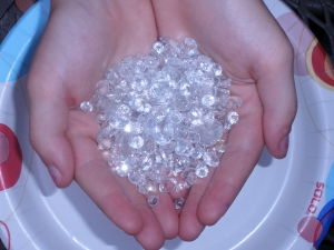 Over 100 carats of loose white topaz  gemstone mix