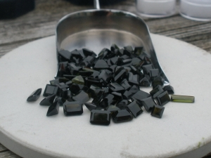 Dark green tourmaline gem mix parcel over 50carats