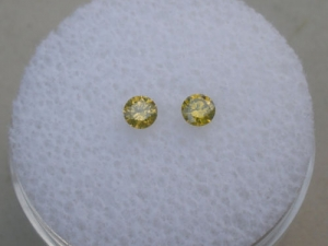 10 Natural Champagne Diamonds SI Quality Loose Faceted Rounds 1.5mm each