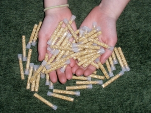 50 Gold flake vials