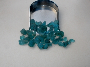 Blue Apatite crystal rough gem mix parcel over 50 carats
