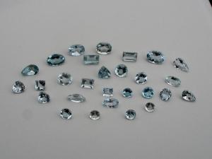 Aquamarine gem mix loose parcel over 5 carats