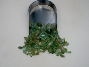 Green Tourmaline crystal rough loose natural gem parcel over 50 carats